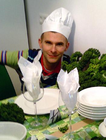 Philipp Beisteiner in der Schlagerküche